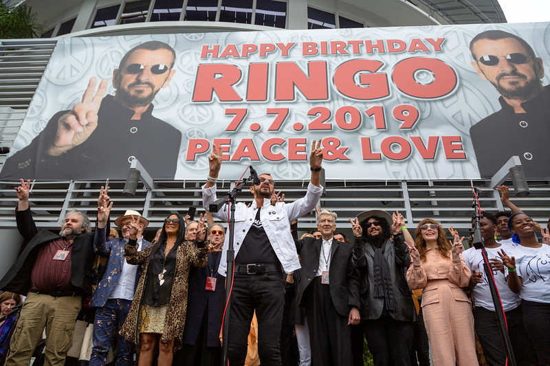2019_07_07, Birthday, CA, Capitol Records, Los Angeles, Ringo, Peter Jackson, Ringo Starr, David Lynch, Don Was, Jenny Lewis, Names