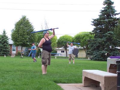 Robert's Birthday and Swording 2009