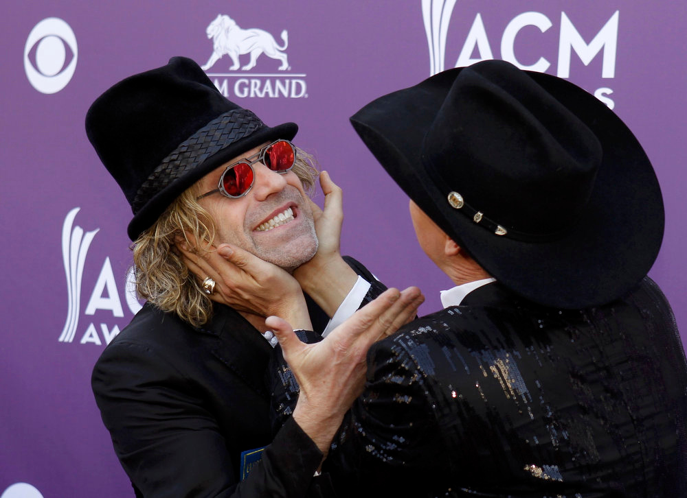 . Big Kenny (L) and John Rich, of the band Big & Rich, arrive at the 48th ACM Awards in Las Vegas April 7, 2013. REUTERS/Steve Marcus