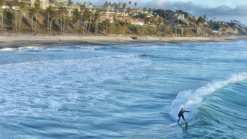 Surfer in San Clemente on Sunday