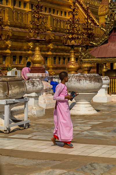 Nun at Shwezigon Pagoda