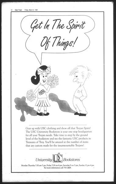 Daily Trojan, Vol. 111, No. 39, March 09, 1990