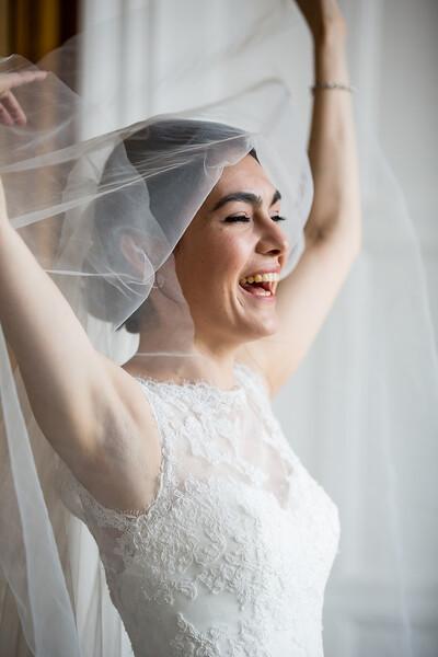 Joyous bride