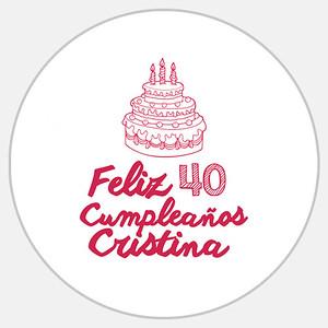 Cristina 40 Cumple