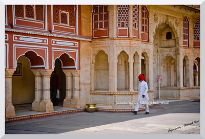 Who's there? | Royal Guard inspects inside the City Palace, Jaipur (Rajasthan)