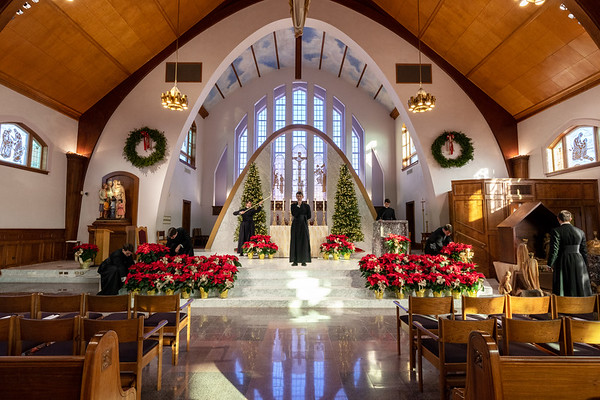 Church Decorated for Christmas - 12/24/19