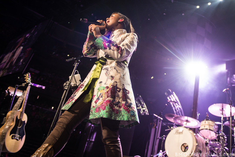 Jamie Grace performs on January 12, 2013 during Winter Jam at Tampa Bay Times Forum in Tampa, Florida