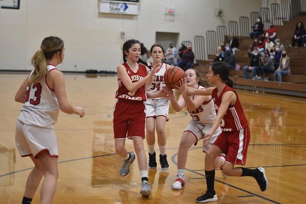 7th grade girls basketball vs. Elkhorn Middle School
