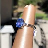 Vintage-Inspired and Contemporary 3.03ct Blue Sapphire Ring (GIA, No-Heat)) 5