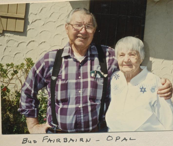 Bud Fairbairn, Opal Nelson. Opal is Mom's sister
