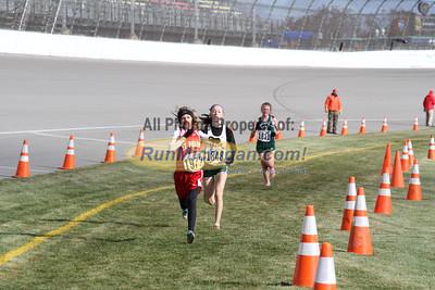 3.0 Mile Mark, D4 Girls - 2014 MHSAA LP XC Finals