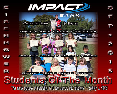 "IMPACT BANK'S  ""Students of the Month"""