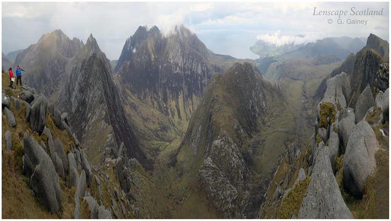 Goat Fell and the Arran hills from Beinn Tarsuinn