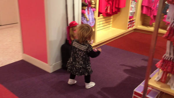 Abigail Dancing while shopping with Daddy