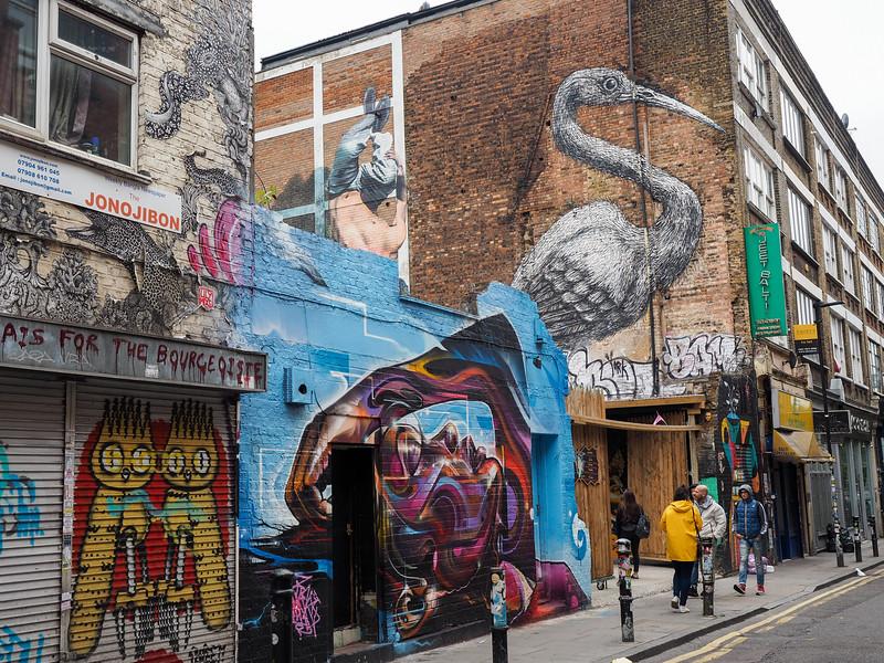 Street art in London's East End