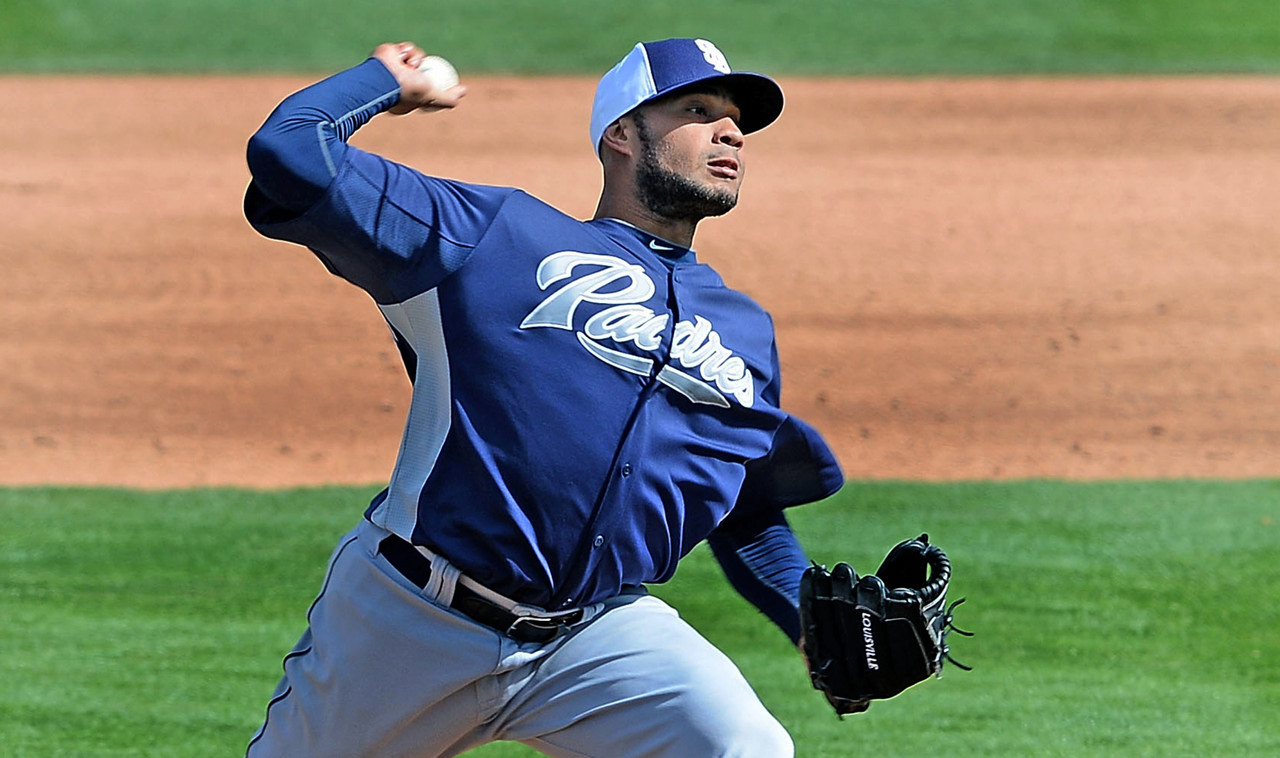 . Fautino De Los Santos, pitching prospect, San Diego Padres.  (Photo by Jennifer Stewart/Getty Images)