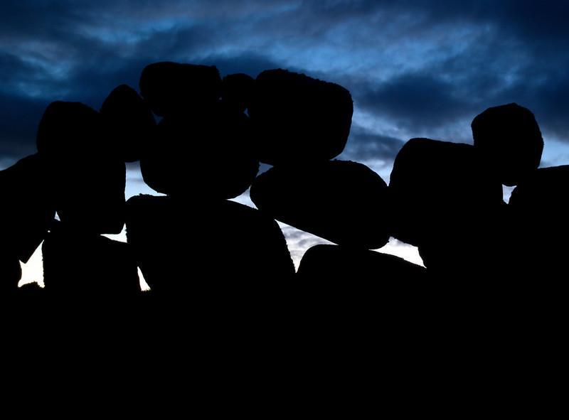 Steingjerde ved Revehamnen på Jæren  Stone wall near Revehamnen on the Jæren coast (Foto: Ståle)