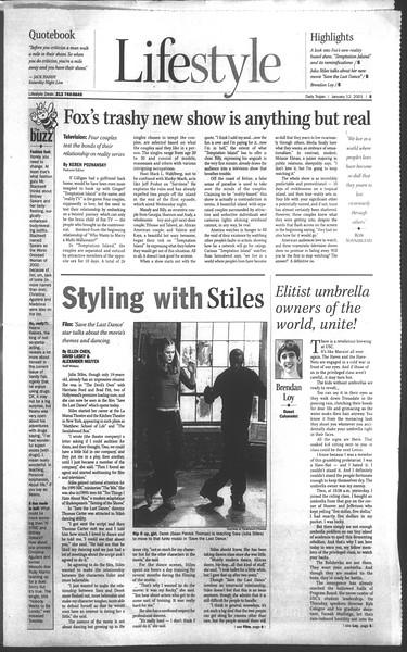 Daily Trojan, Vol. 142, No. 4, January 12, 2001