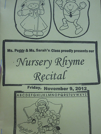 Nursery Rhyme Recital Nov 2012