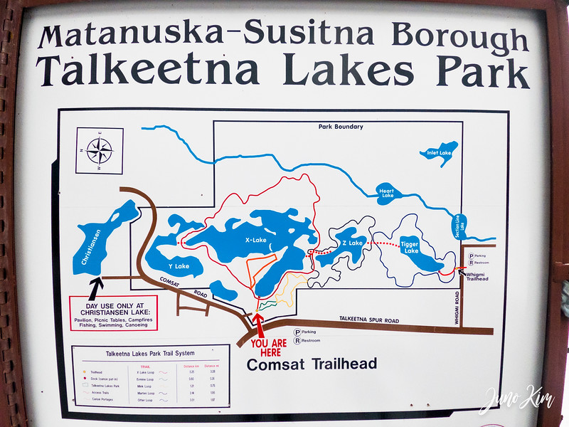 Talkeetna Lakes Park trail map