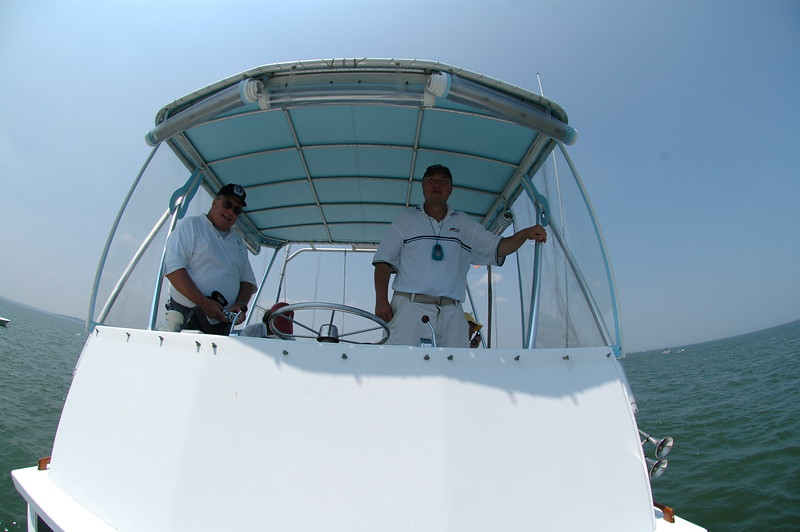 Brooks Zerkel and John McCarthy aboard Mr. Roberts