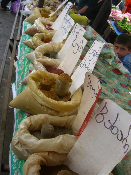 Bags of Spices at Telavi Market - Kakheti, Georgia