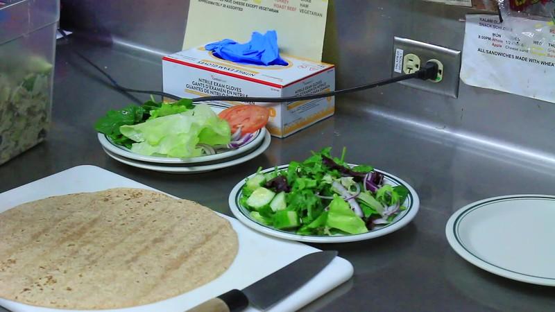 Jackfruit Salad & Jackfriut Wrap