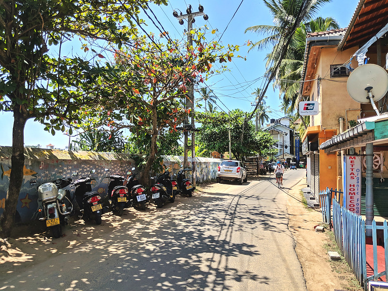 Affordable Beach Destination - Unawatuna, Sri Lanka - main road