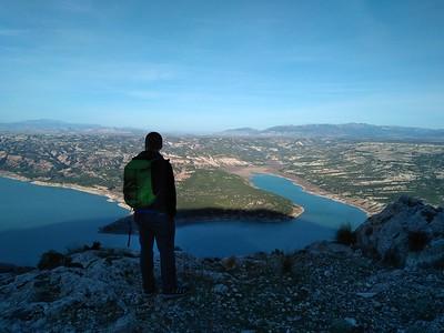 Climbing on Cerro Jabalcón, Baza, Granada