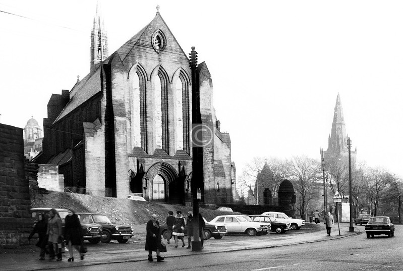 Barony Church after the demolition of the pumping station.  December 1973