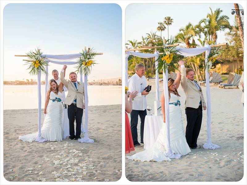 Bahia Resort San Diego - Beach Wedding Ceremony William D Evans Boat Reception-7320 hand in the air .jpg