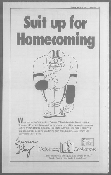 Daily Trojan, Vol. 113, No. 32, October 18, 1990