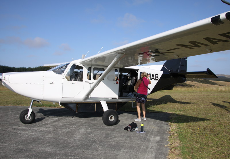 Our plane to the northern tip of NZ