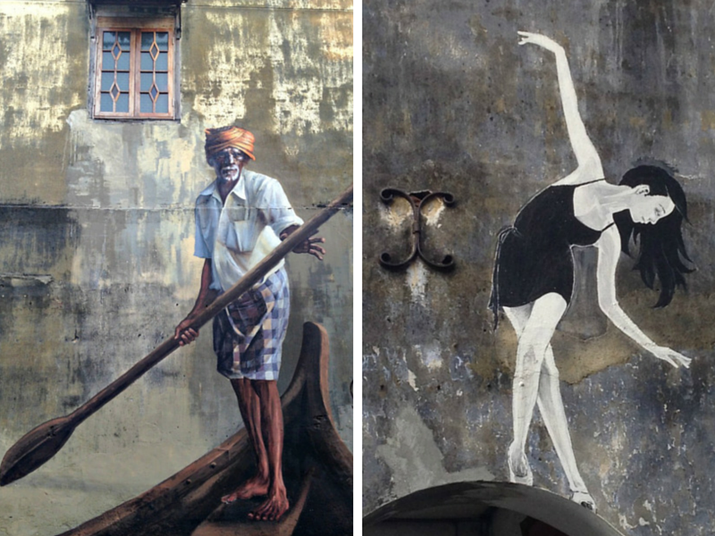 Murals in Georgetown, Penang, Malaysia.