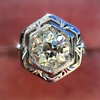 .82ct Old European Cut Diamond Art Deco Solitaire GIA M VS1 30