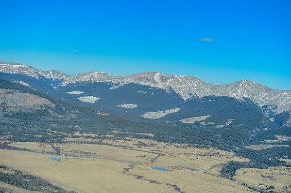 1-29-15 Forestry Road Area & Mountains From The Air