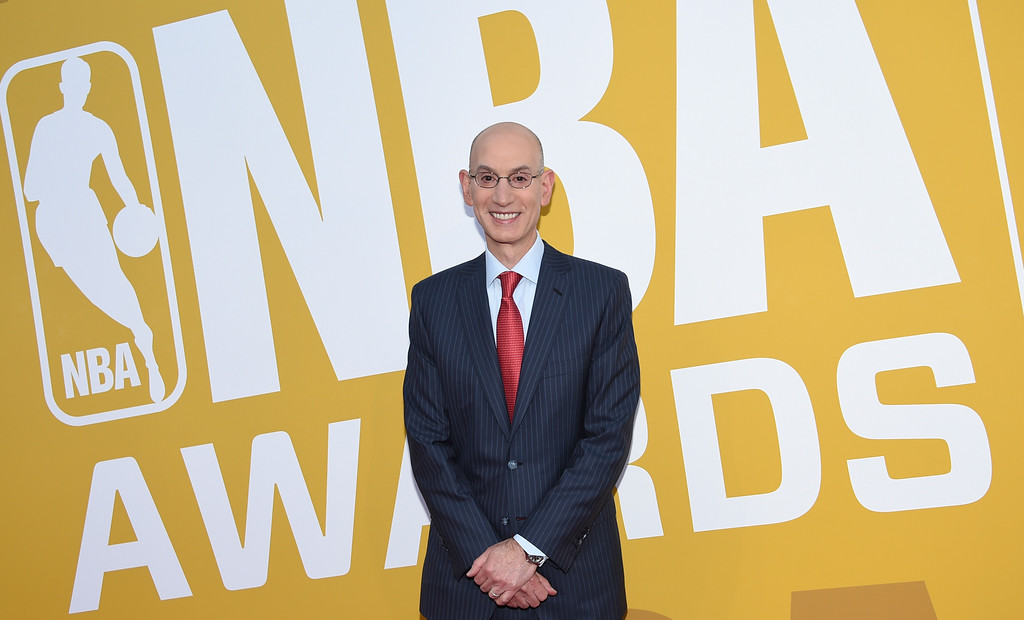 . NBA Commissioner Adam Silver arrives at the NBA Awards at Basketball City at Pier 36 on Monday, June 26, 2017, in New York. (Photo by Evan Agostini/Invision/AP)