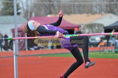Girls' High Jump, Boy's Long Jump - 2013 Stevenson HS Titan Relays