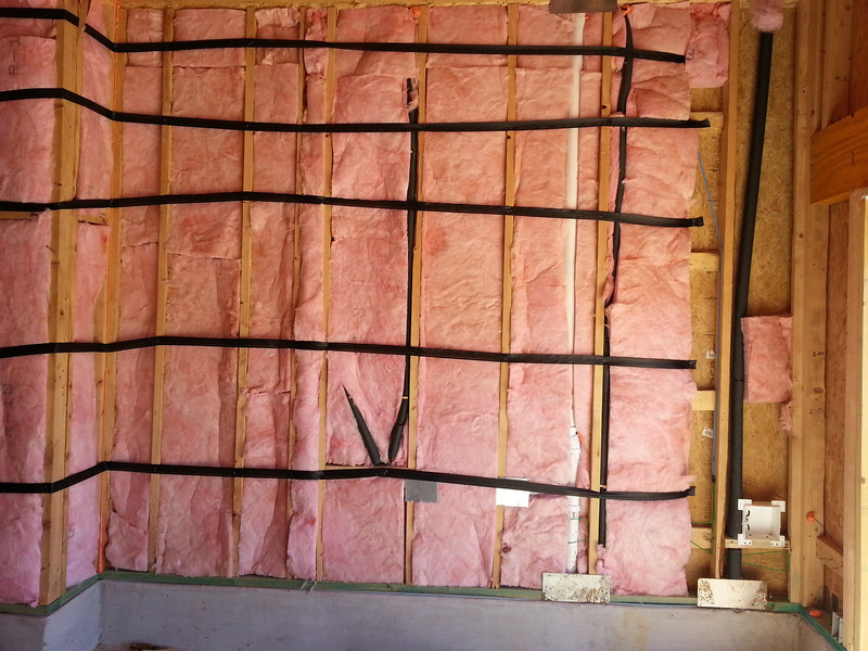 Garage insulation and main water valve to house.  Water is already on btw...