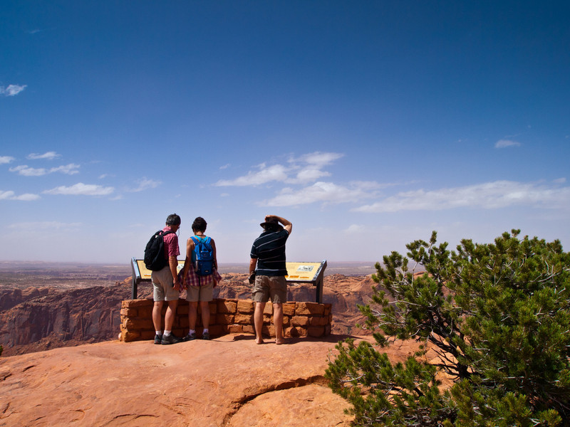 Our first stop in Canyonlands at Islands in the Sky was to the upheaval dome.  This is a 3 mile wide round crater formed either by a salt dome  or by a meteor impact.  http://www.nps.gov/cany/planyourvisit/upload/UpheavalDome.pdf