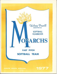 1977 Monarchs Softball Yearbook
