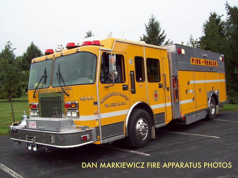 KLECKNERSVILLE RANGERS FIRE CO. RESCUE 4844 2000 SPARTAN/CENTRAL STATES PUMPER RESCUE