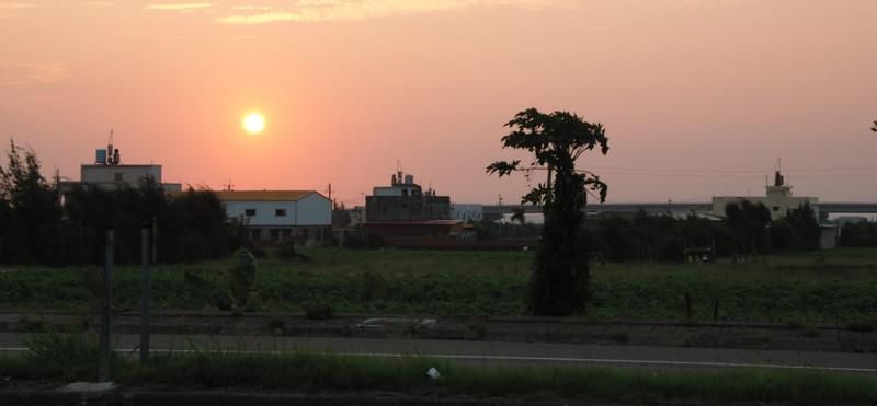 台1線上的美麗夕陽