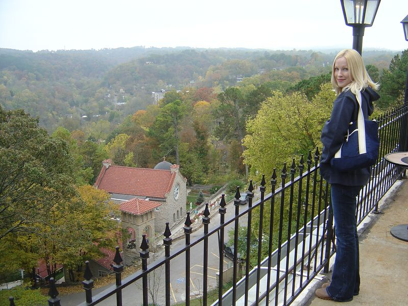View from Crescent Hotel in Eureka Springs, AR.