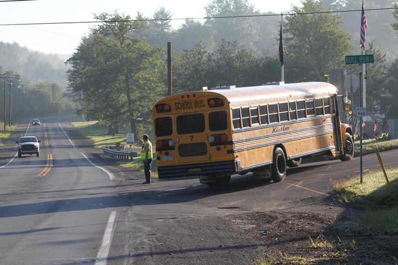 School Bus Breaks Down on Road, Seek, Coaldale, 8-30-2011 (1).JPG