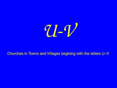 U–V Churches