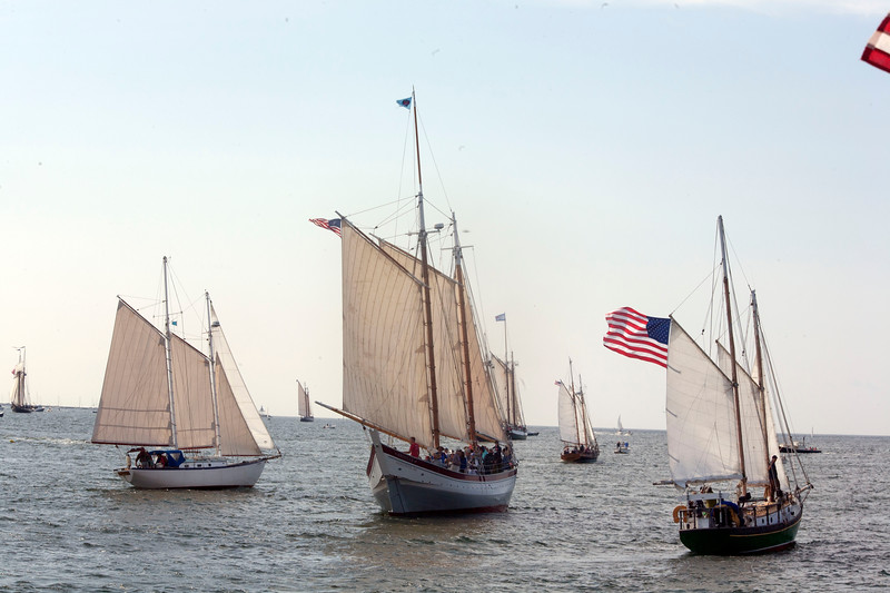 Boats from as far away as England participated in the annual Gloucester Schooner Festival.