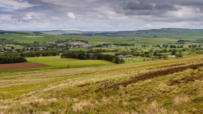 Bellingham village and the Tyne Valley