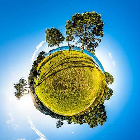 Hahei Beach Tiny Planet Photos