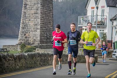 Anglesey Half Marathon 10K with Bridge background